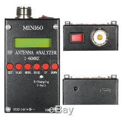 SARK100 Mini60 1-60MHz HF ANT SWR Antenna Analyzer for Ham Radio Hobbyists C2D0