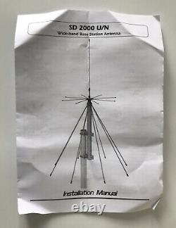 Sirio Sd-2000/N Antenna Discone Rx100-2000 MHZ Tx 130-160,215-440,610-685