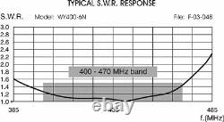 Sirio WY400-6N UHF 400-470 MHz Base Station 6 Element Yagi Antenna - 11dBi