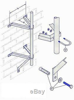 Standoff CB / Two Way Radio / Ham Antenna Mast Pole Bracket K & T Set