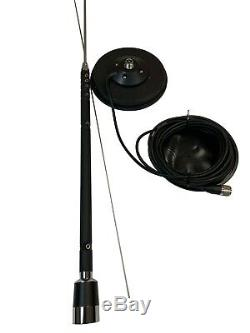 Taurus 9 bands (HF/CB//VHF/6M) Mobile Antenna with Sirio Mag 145 PL Mag mount