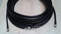 US MADE CNT- 400 (LMR-400) HAM Radio Antenna Coax Cable PL259 UHF to UHF 100 FT