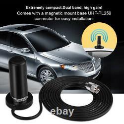 VHF/UHF Dual Band Auto Veicolare Bibanda Mobile Radio Antenna Con Base Magnetica