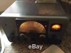 Vintage Johnson Viking Ranger Ham Radio Transmitter With Mic And Antenna Relay