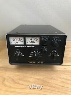 Yaesu FC-301 Ham Radio Antenna Tuner 500W 1.8-30MHz Matches FT-301 SN 7N020454