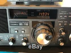 Yaesu FRG-7700 Ham Radio Shortwave Receiver with FRA 7700 Antenna