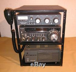 Yaesu FT 707 Hf Ham Radio, Antenna Tuner FC 707, Power Suply FP 707, Mic, Rack