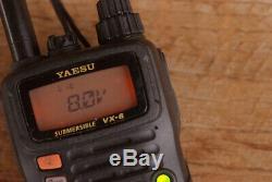 Yaesu VX-6R Submersible Handheld Ham Radio Transceiver Diamond Antenna